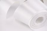 Лента атласная белая 50 мм 1 м