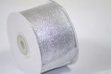 Парча 5 см серебро