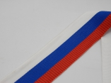 Лента репс 3,3см Российский флаг