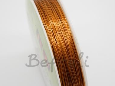 Проволока для бисера 0,3мм 50м коричневая