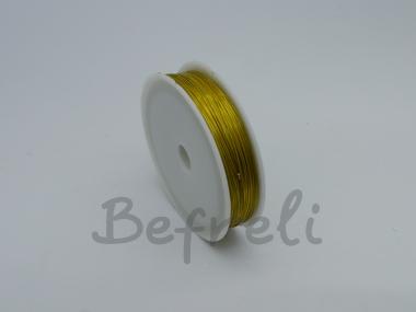 Проволока для бисера 0.5 мм 40 м желтая